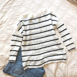 Allsaints mohair striped sweater